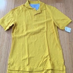 Lands End, mens small, mustard colored shirt, sm